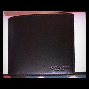 Authentic Black Coach Men wallet